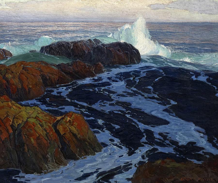 Edgar Payne Painting - The Restless Sea, 1916 by Edgar Payne