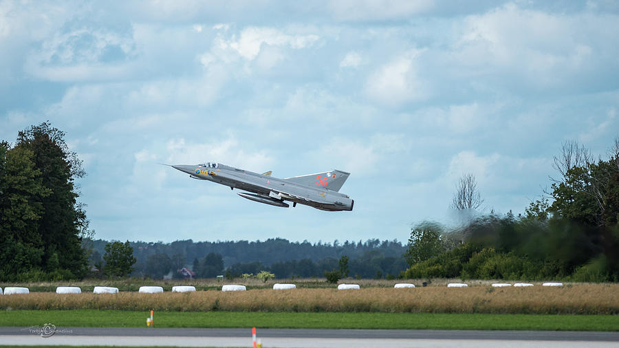 The Retired J35 Draken Take Off And Still Going Strong Photograph