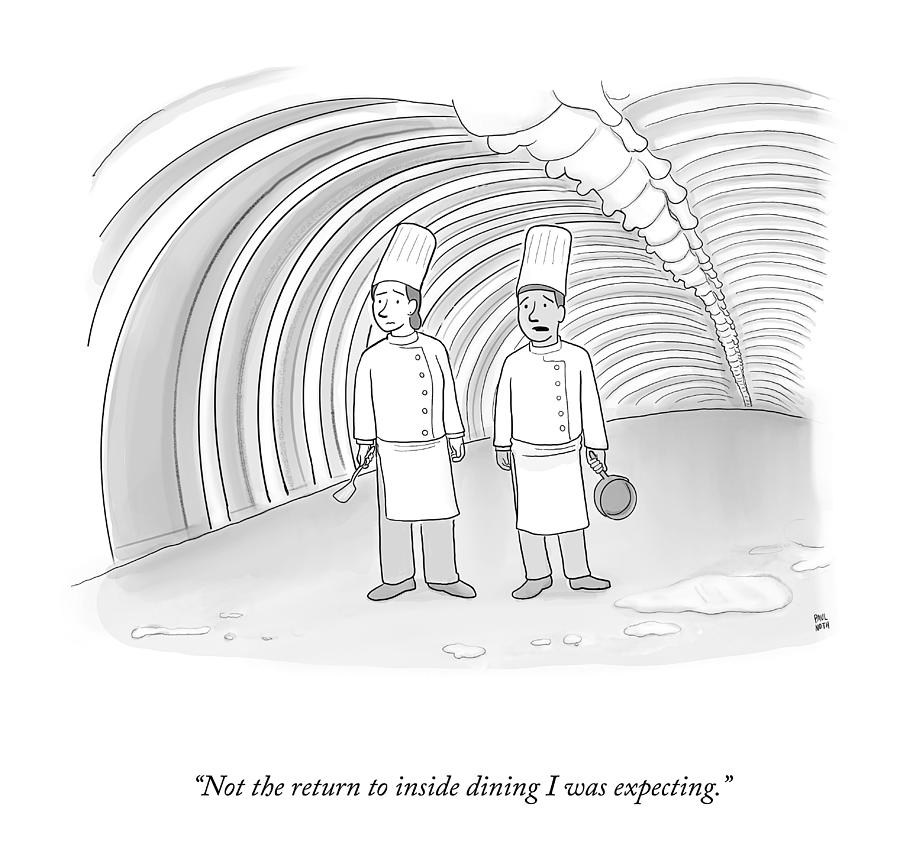 The Return To Inside Dining Drawing by Paul Noth