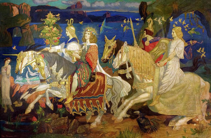 John Duncan Painting - The Riders of Sidhe, 1911 by John Duncan