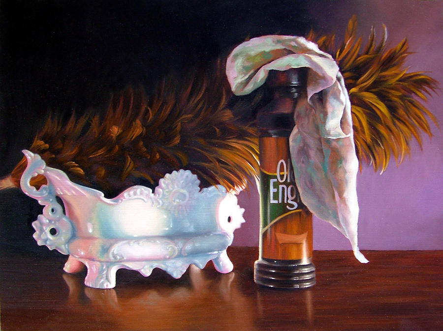 Still Life Painting - The Rivalry by Melanie Stimmell Van Latum