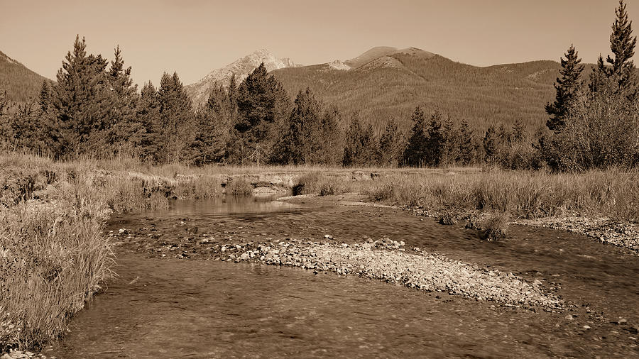 The River And The Mountains Photograph