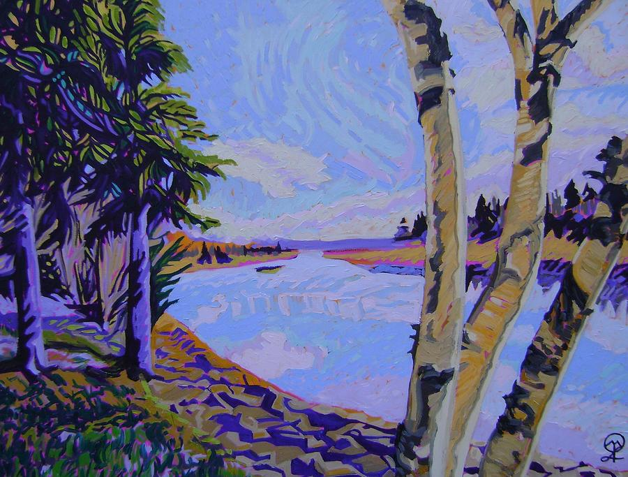Acadians Painting - The River of my Acadian Ancestors by Therese Legere
