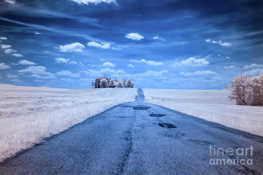 The Road Ahead Infrared Digital Art