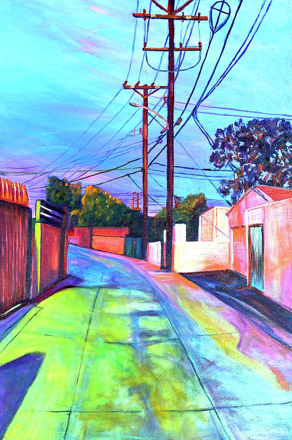 Cityscape Painting - The Road Less Travelled by Bonnie Lambert