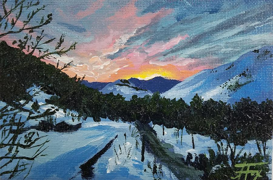 Snow Painting - The Road Rises Up To Meet You by Allison Fox