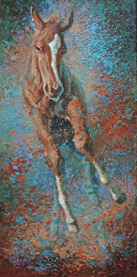 Horse Painting - The Rookie by Mia DeLode