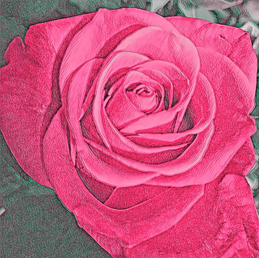 The Rose 1 Mixed Media