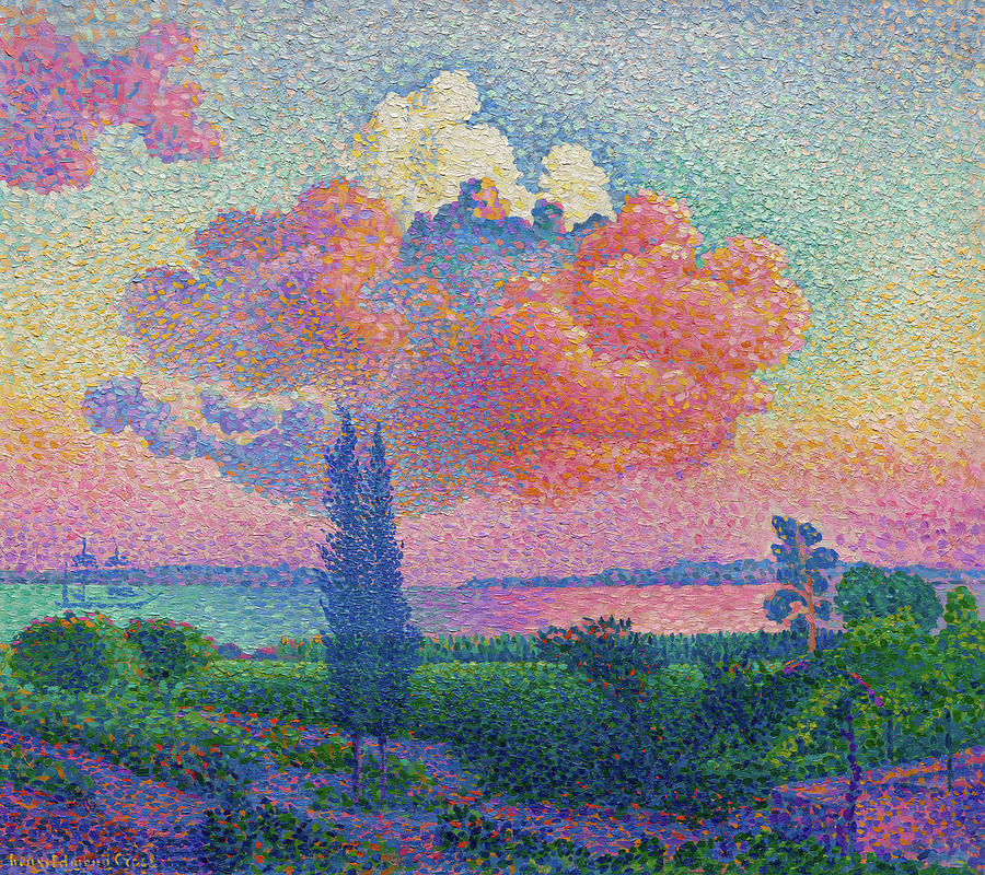 Henri Edmond Cross Painting - The Rose Cloud by Henri-Edmond Cross