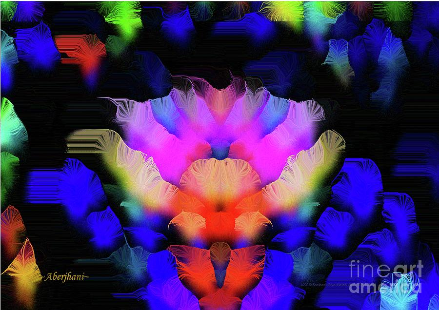 Roses Digital Art - The Rose that Blossomed at Midnight by Aberjhani