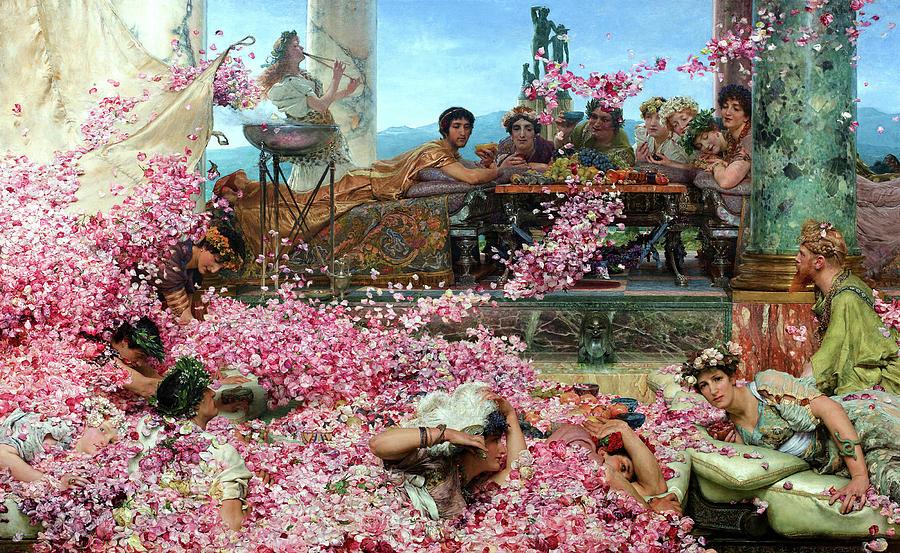 Lawrence Alma-tadema Painting - The Roses Of Heliogabalus, 1888 by Lawrence Alma-Tadema