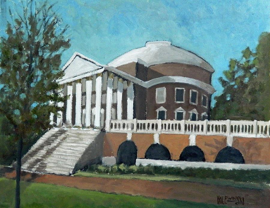 Rotunda Painting - The Rotunda at UVA by Robert Denis Holewinski