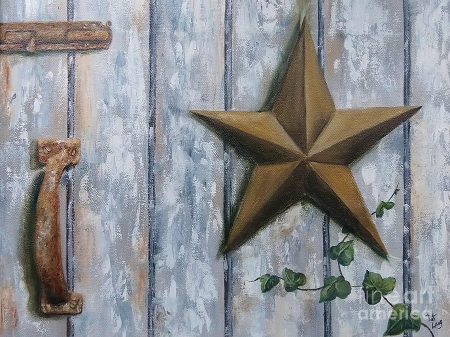 Rusty Painting - The Rusty Latch by Patricia Lang
