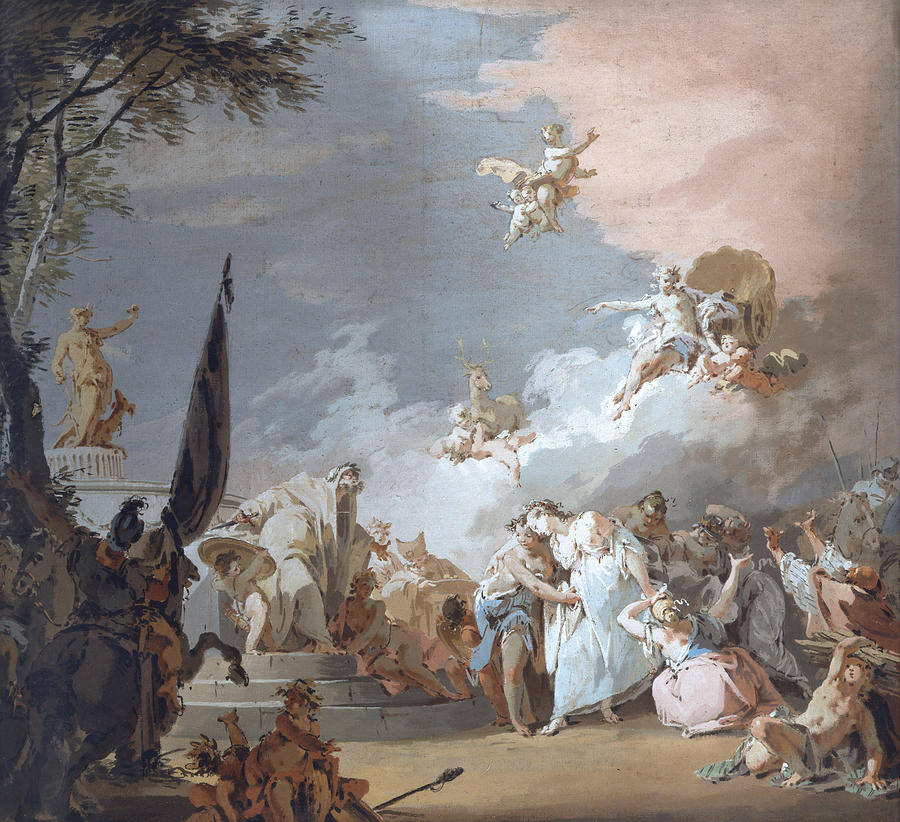 Giovanni Painting - The Sacrifice Of Iphigenia  by Giovanni Battista Crosato
