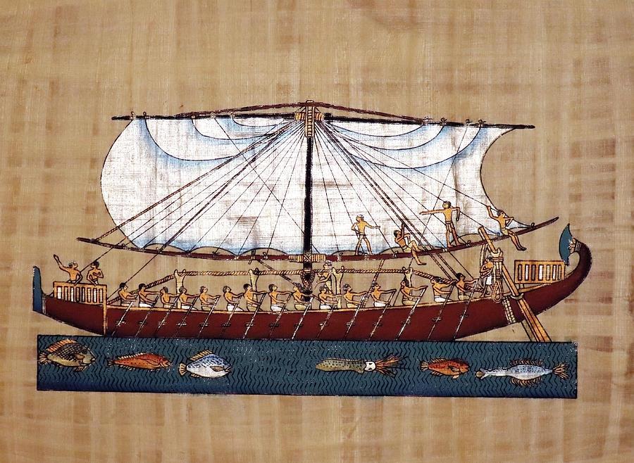 The Sailing Boat Of Pharaoh Hatshepsut Painting