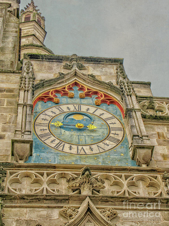The Saint-Lazare Cathedral clock by Patricia Hofmeester