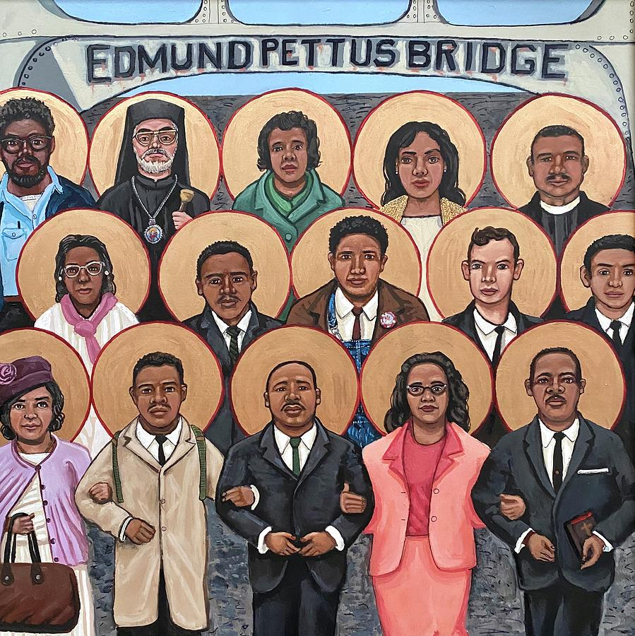 The Saints of Selma Painting by Kelly Latimore