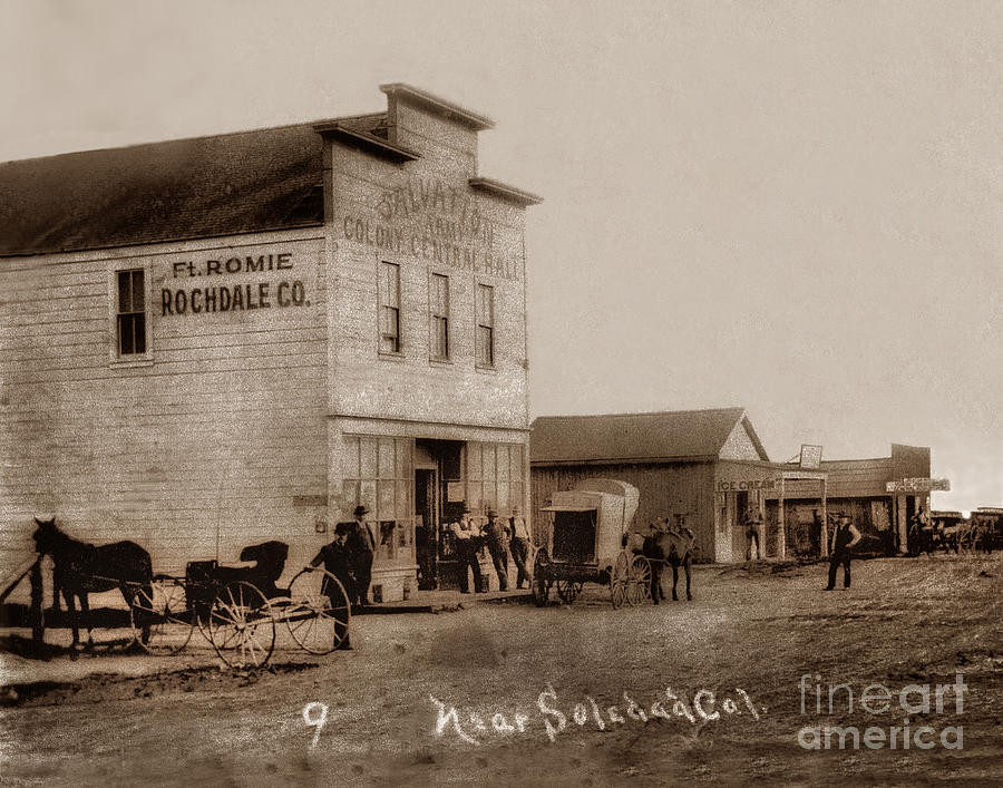 The Salvation Army Colony  Central Hall   Fort Romie, Monterey Co.  Circa 1912 by California Views Archives Mr Pat Hathaway Archives