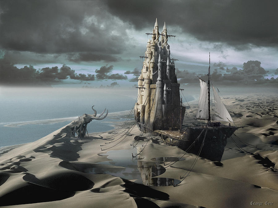 Bewitch Digital Art - The Sand Castle by George Grie