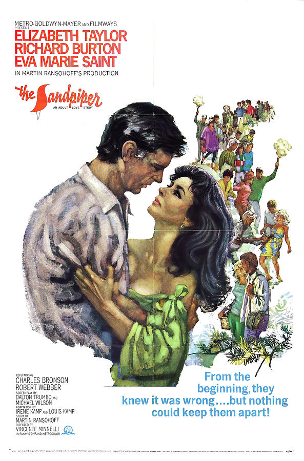the Sandpiper With Elizabeth Taylor And Richard Burton, 1965 Mixed Media
