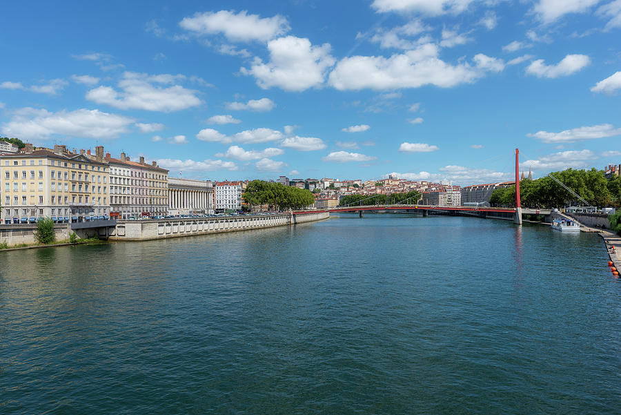 Lyon Photograph - The Saona River In Lyon, France by Vicen Photography