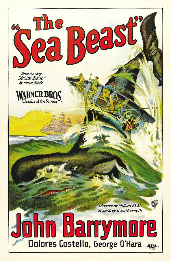 the Sea Beast, With John Barrymore And Dolores Costello, 1926 Mixed Media