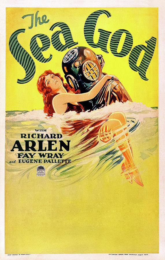 the Sea God - 1930 Mixed Media