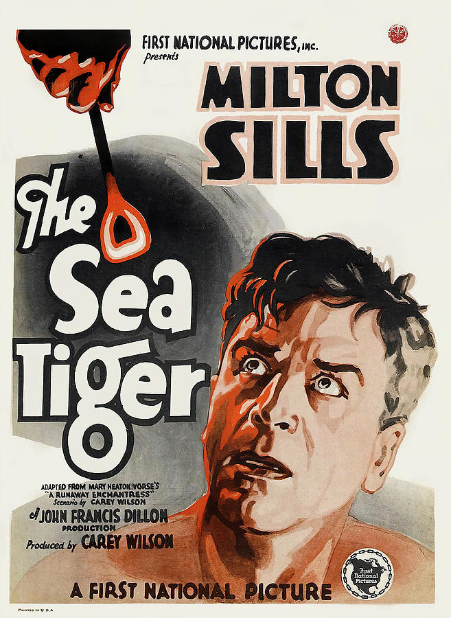 the Sea Tiger, With Milton Sills, 1927 Mixed Media