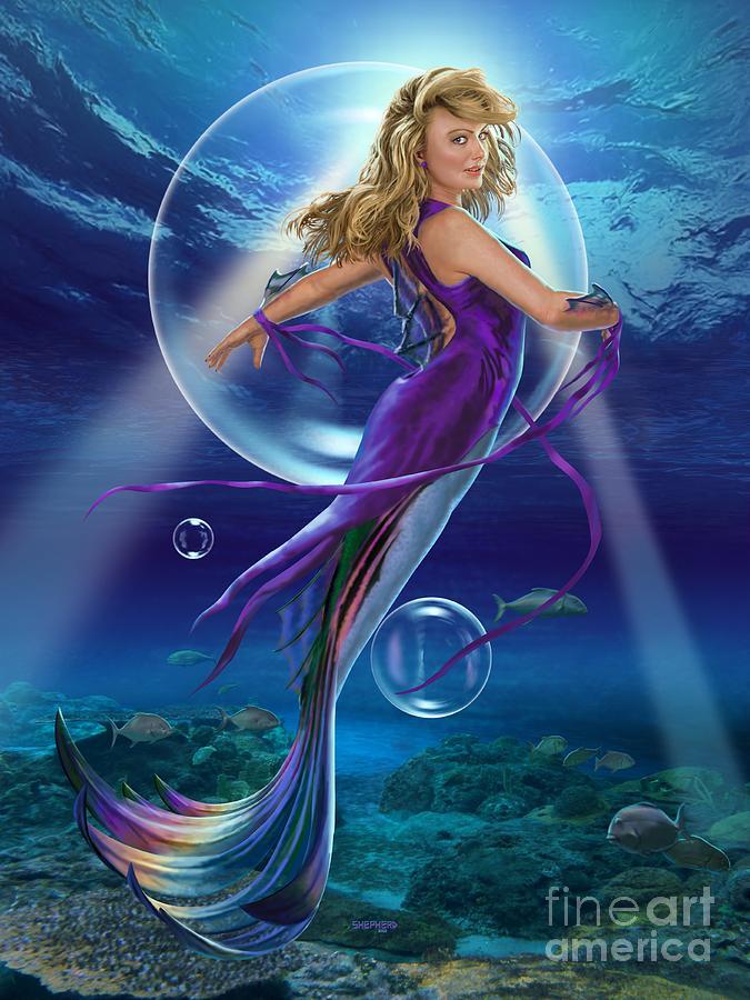 Mermaid Digital Art - The SeaDancer by Stu Shepherd