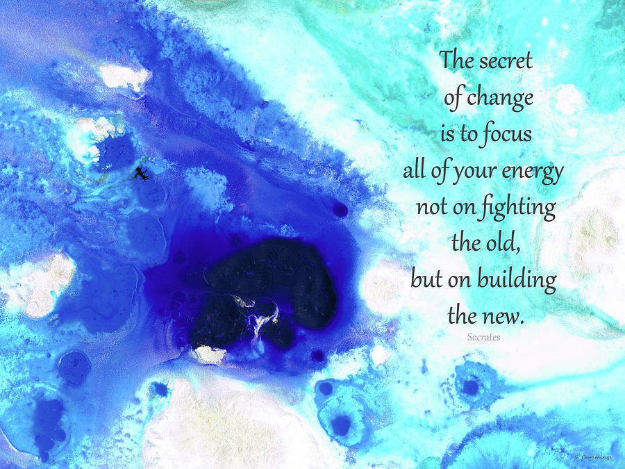 Hope Painting - The Secret - Inspirational Art and Quotes - Sharon Cummings by Sharon Cummings