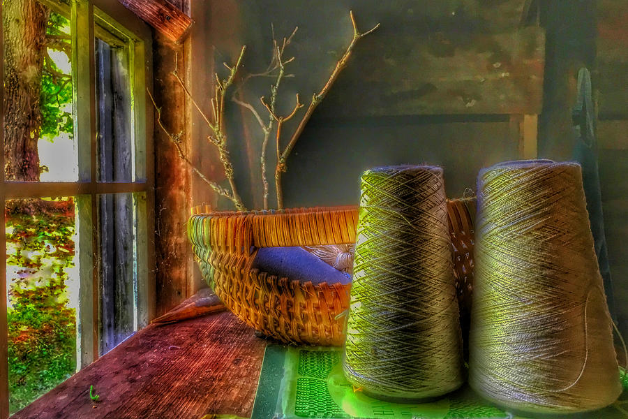 Sewing Photograph - The Sewing Basket by Anthony M Davis