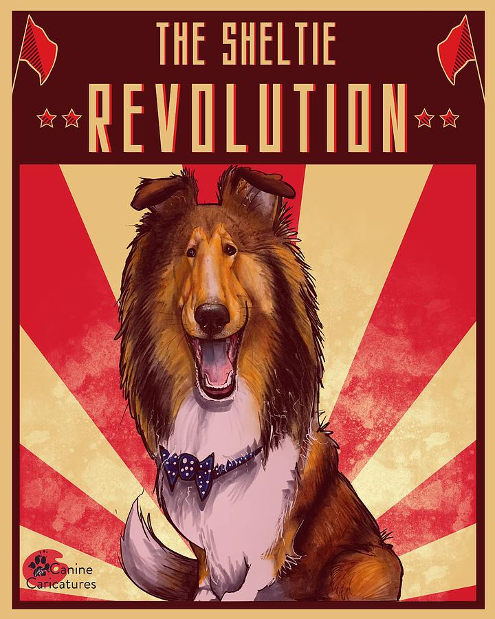 The Sheltie Revolution Drawing