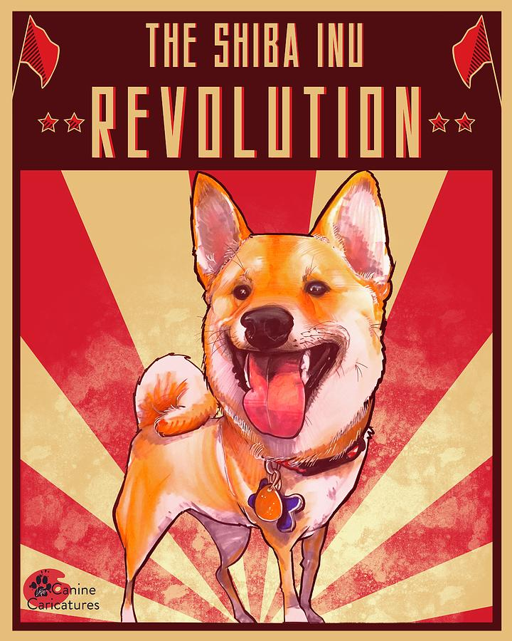 The Shiba Inu Revolution Drawing