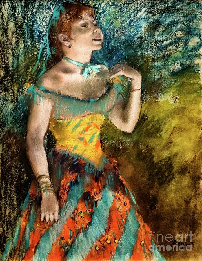 The Singer in Green by Degas by Edgar Degas