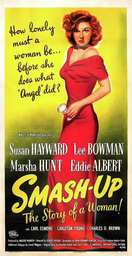 the Smash-up, With Susan Hayward, 1947 Mixed Media