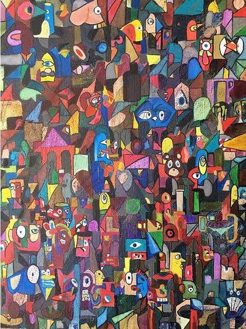 Society Painting - The Society by Alejandro Martinez
