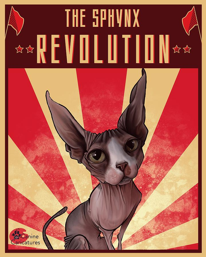 The Sphynx Revolution Drawing