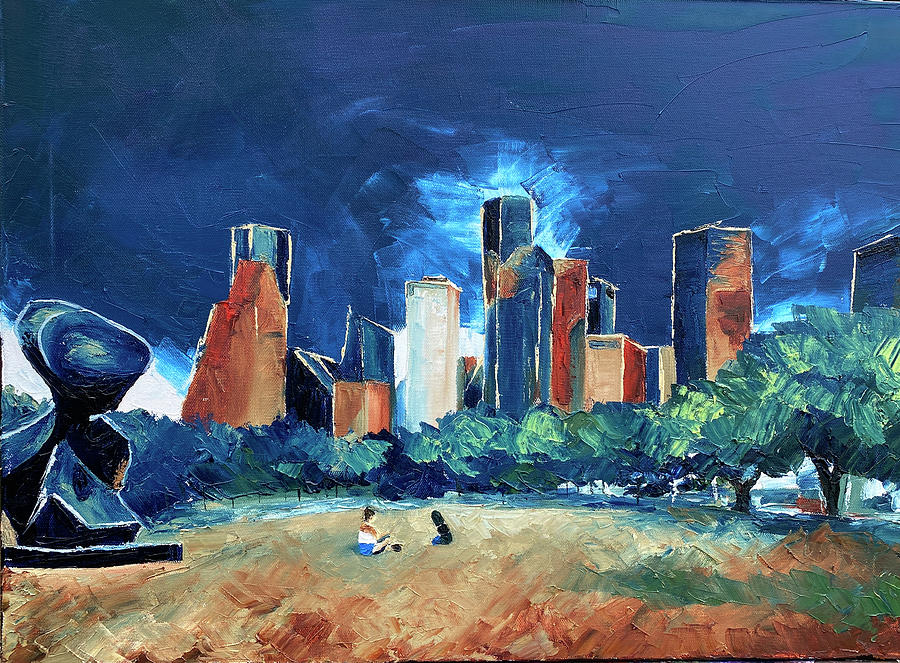 Buffalo Bayou Painting - The Spindle at Buffalo Bayou by Lauren Luna