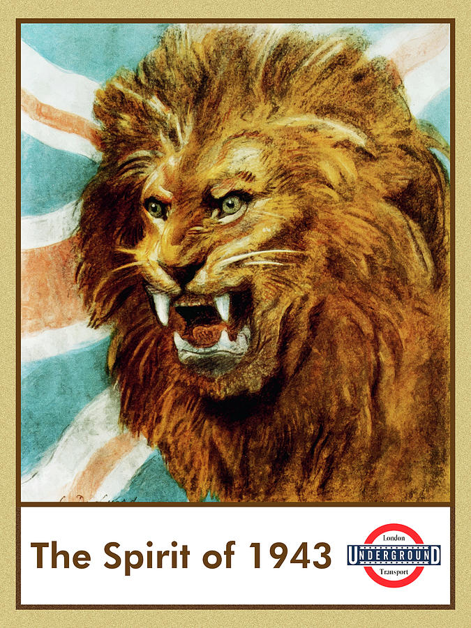 The Spirit Of 1943 - London Underground, London Metro, Suburban - Retro Travel Poster Mixed Media