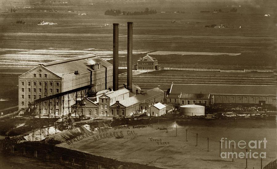 The Spreckels Sugar Factory near Salinas Circa 1911 by California Views Archives Mr Pat Hathaway Archives