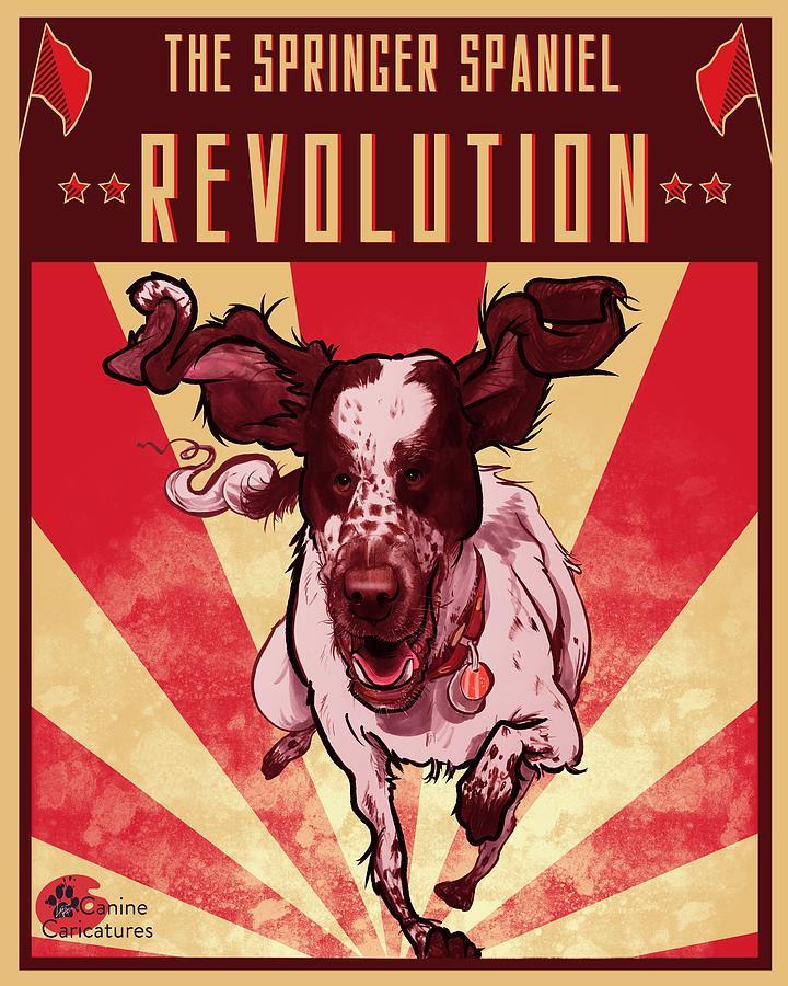 The Springer Spaniel Revolution Drawing