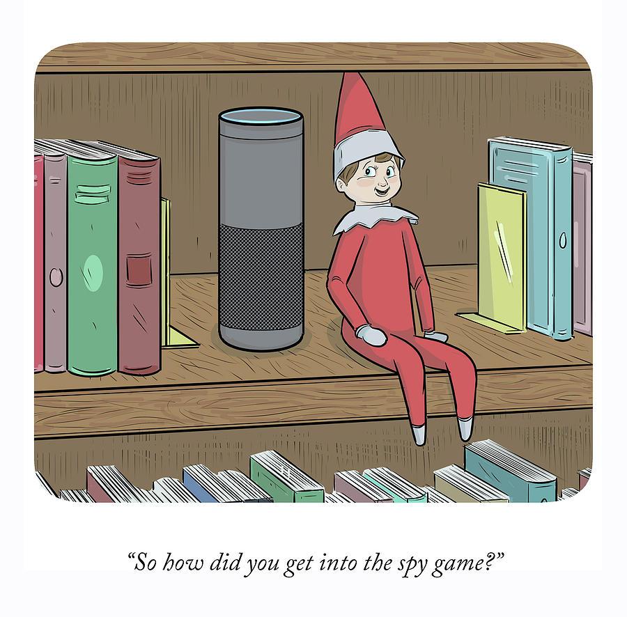 The Spy Game Drawing by Ellis Rosen