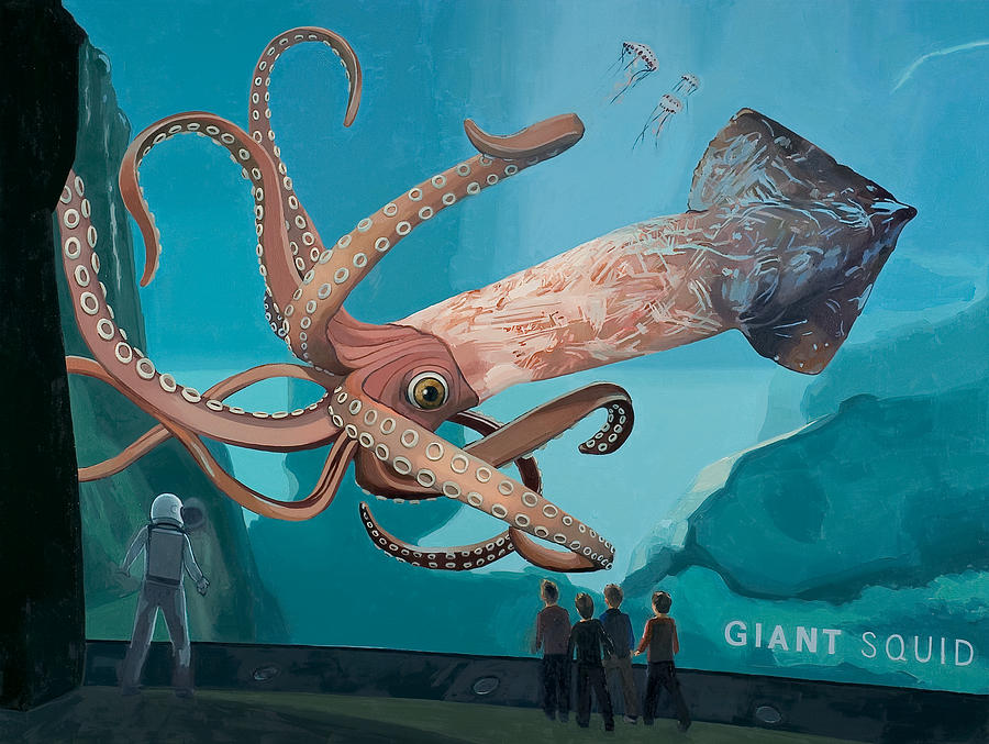 Astronaut Painting - The Squid by Scott Listfield