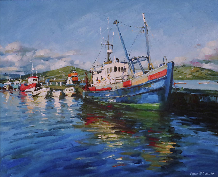 The St Fhionbar At Portmagee, County Kerry.jpg Painting