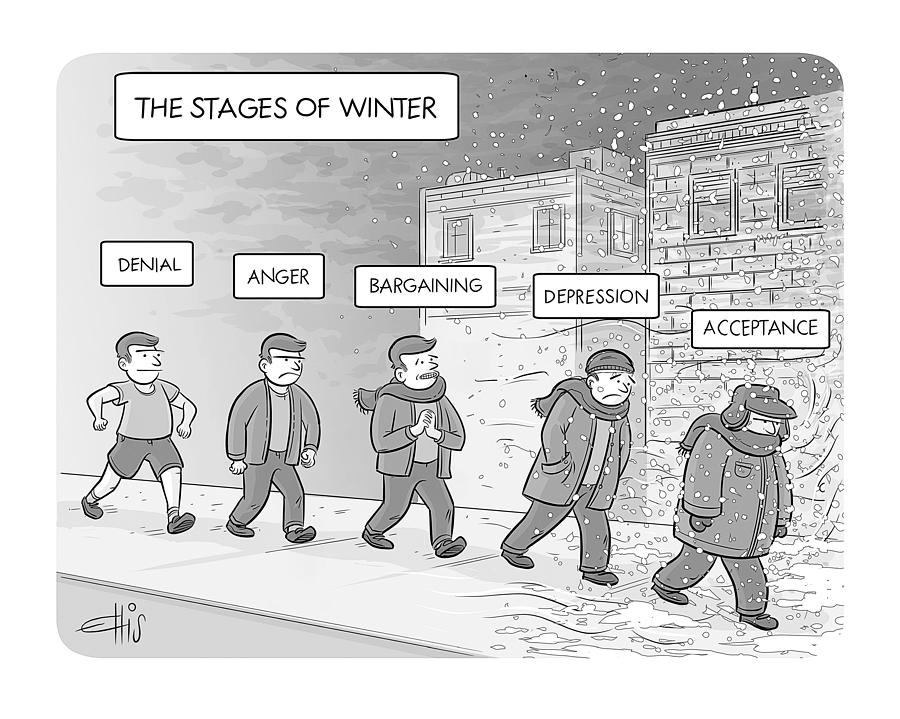 The Stages Of Winter Drawing by Ellis Rosen