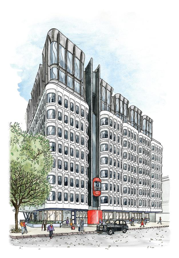 The Standard London Drawing by Emma Kelly