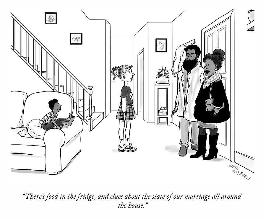 The State Of Our Marriage Drawing by Sofia Warren