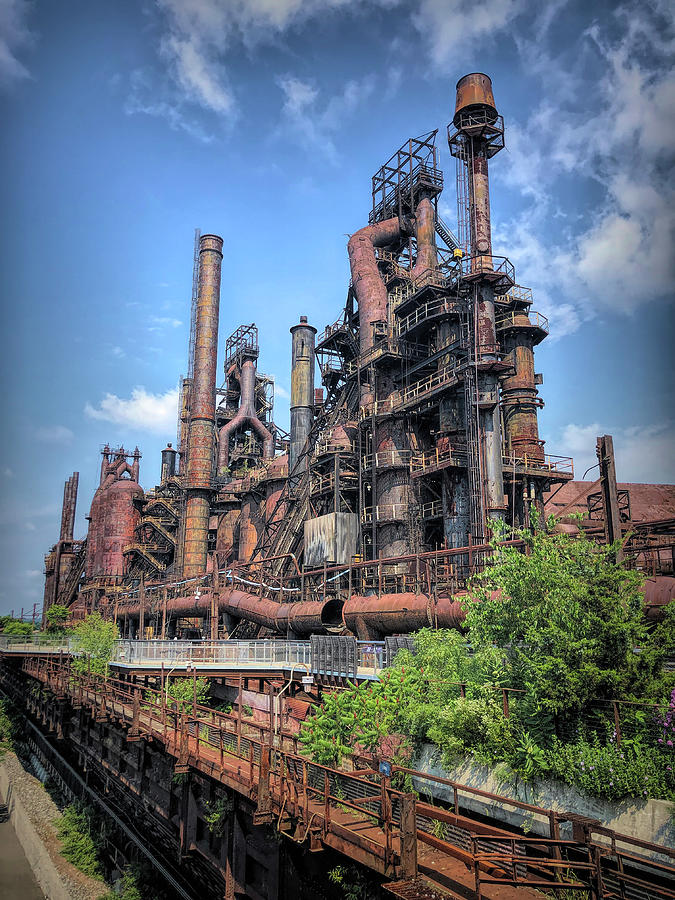 Steel Stacks Photograph - The Steel Stacks by Jim Cook