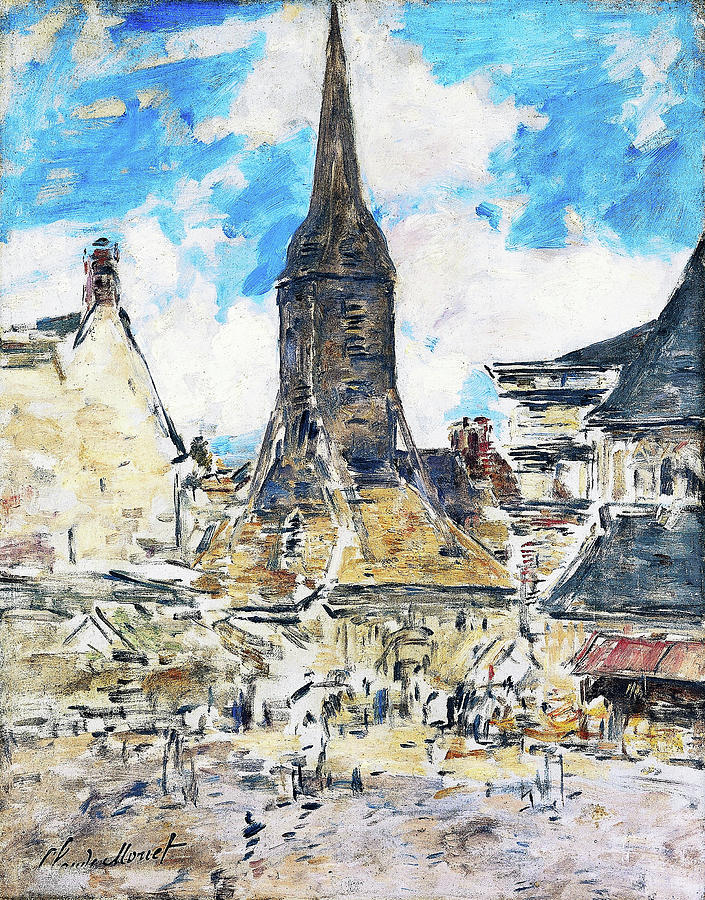 Eugene Louis Boudin Painting - The Steeple Of St. Catherine - Digital Remastered Edition by Eugene Louis Boudin