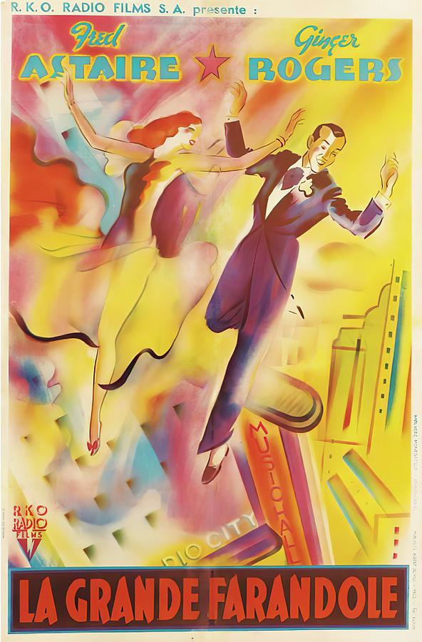 the Story Of Vernon And Irene Castle, With Fred Astaire And Ginger Rogers, 1939 Mixed Media